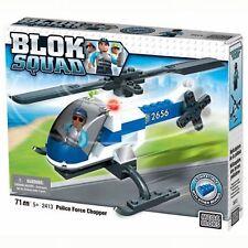 Mega Bloks Blok Squad Police Force Chopper Building Set - 71 Piece Helicopter