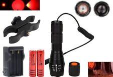 WindFire Tactical Red LED Light Zoom Focus Flashlight 300 Yards Hog Hunting Set