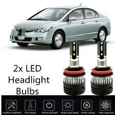 2pcs Mini H13 Car Truck LED Headlight Lights 6K For Mitsubishi Lancer 2008-2017