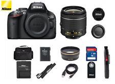 Nikon D5100 16.2MP DSLR Camera Kit w/AF-S VR 18-55mm Lens (2 LENS) BUNDLE Nikkor
