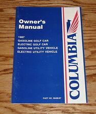 1987 Columbia ParCar Golf Car Owners Operators Manual 87