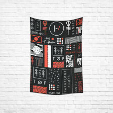Wall Hanging Twenty One Pilots Cotton Linen Tapestry Home Decor 40 x 60 Inch