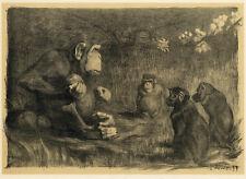 """1897 original litho L'Estampe Moderne """"Le Jugement de Paris"""" by P. Jouve"""