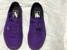 Purple Vans Off The Wall Skate Shoes Sneakers Unisex Size Mens 5.0 Women's 6.5