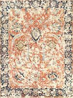 Floral Ziegler Distressed Design Oriental Area Rug Hand-Knotted Room Carpet 8x10