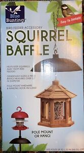 Squirrel Baffle For Bird Feeders Or Pole Blue Bunting Easy To Install Accessory
