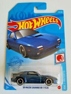 Hot Wheels '89 Mazda Savanna RX-7 FC3S Blue #176 176/250 2021 HW J-Imports 5/10