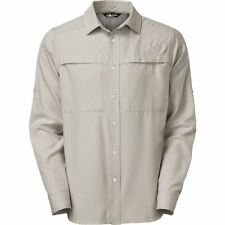 The north face mens long sleeve sleeve button front casual shirts polyester sciox Images