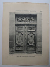AIX PROVENCE Hotel MALIVERNY Porte ARCHITECTURE Sculpture PHOTO 1910