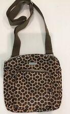 Baggallini Brown Purse Organizer Crossbody Medium Bag Brown Travel Zipper Pocket