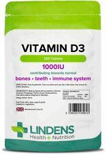 Vitamin D3 1000IU 120 Tablets Lindens Health + Nutrition Ltd (5613)