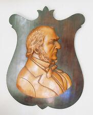 RARE 19th Century Folk Art Carved Wood Silhouette Plaque