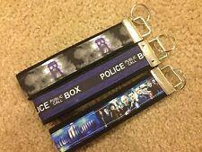 New Handmade Dr. Who Doctor Who Tardis Wristlet Key Chain Hand Lanyard Key Fob 3