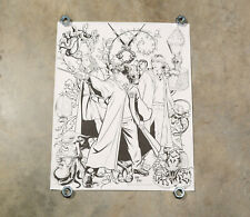 "Harry Potter Coloring Poster black white 16""x20"" Hermione Ron Grindylow"