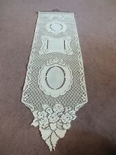Collectible Beautiful Heritage Lace Wall Hanging Add Photos Off White 38 x 12""