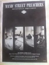 MANIC STREET PREACHERS - MOTORCYCLE EMPTINESS - FULL PAGE ADVERT small poster