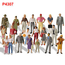 20pcs Different O Gauge People 1:43 Scale Painted Standing Figure P4307