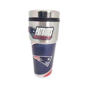 New England Patriots NFL 16 oz Travel Tumbler - Coffee Mug