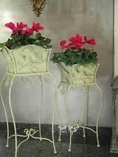 Portafiori Ferro Portavaso Portapiante Antico Fioriera Vintage Bianco Giardino