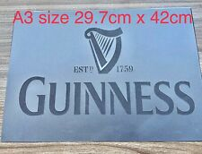 A3 Guinness Beer Stencil Bar Sign Larger Garden Pub Wall Craft Alcohol Decor