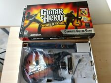 PS3 Guitar Hero World Tour Sunburst Guitar in box with Games and Dongle!