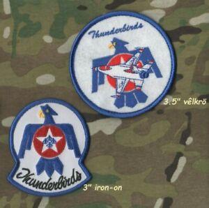 USAF F-16 THUNDERBIRDS DISPLAY DEMO TEAM iron-on +  vêlkrö 2-PATCH INSIGNIA