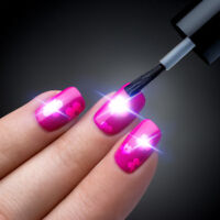 NFC Nail Art Sticker LED Tips Light Flash Decal Accessories Phone DIY