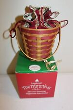2007 Longaberger Peppermint Tree Trimming Basket Set - Red - New