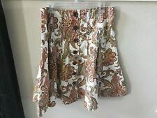 CAbi Skirt Style #861 Size 12 Button Front Paisley Print