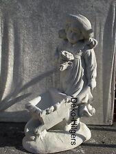 Mädchen Mit Schubkarre Skulptur Figur Gartenfigur Beton Steinfigur Garten Groß