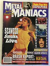 April 1996 SUPERSTAR SPECIAL Metal Maniacs magazine~Ozzy,Napalm Death,Slayer,etc
