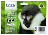 Epson 4 Original T0895 Druckerpatronen - Cyan Gelb schwarz magenta ABGELAUFEN