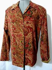 BRIGGS Blazer shirt Jacket L Brick floral Paisley Suit coat button up LS NewYork