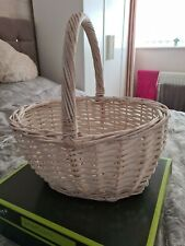Wicker Basket White