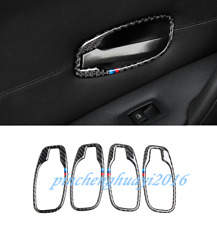 Real Carbon Fiber Inner Door Handle Frame Cover Trim For BMW 5 Series E60 06-10