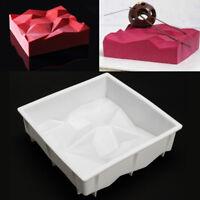 3D Silicone Moule à Mousse Gâteau Carré Pâtisserie Fondant Chocolat Cuisson DIY