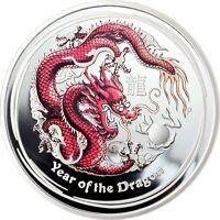 Australien 50 Cent 2012 Jahr des Drachen Lunar II Polierte Platte in Farbe