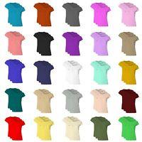 RSVH WCSTP Womens Ladies Plain Cap Sleeve Round Neck Plus Size 3 T-Shirt Pack