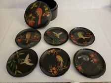 Vintage Japanese Hand Painted Bird Plates Miniature