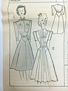 c1950's Vintage Sewing Pattern Daily Mail 122