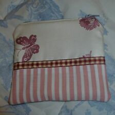 Handmade Coin Purse or Small Make-up Bag - made from fabric incl. Laura Ashley
