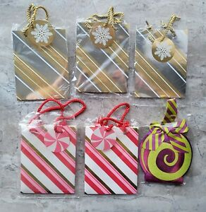 RARE HTF LOT BATH and BODY WORKS BAGS SMALL NEW GIFT CARDS  XMAS PEPPERMINT B&BW