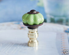 1 of Green Porcelain Scallops Lamp Shade Finial Topper