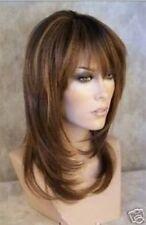 Belle brun doré longue ligne droite perruquecosplay wig+hairnet