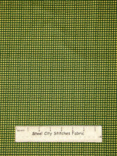 Riverwoods Home Grown Check Green Cotton Fabric Yard Primitive Americana Country