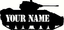 persanalised tank door sticker wall decal, military, army, Vinyl Decal Sticker