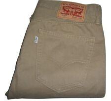 Da Uomo Originali Levis 510 Beige Super Skinny Cotone Spazzolato Jeans W32 L32