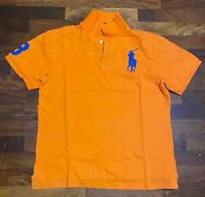 Polo Ralph Lauren Big Logo Tg XL Uomo Arancione