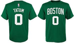 Jayson Tatum Boston Celtics #0 NBA Boys Green T-Shirt -Youth S, M, L, XL