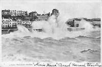 Hastings A storm 1903 Postcard